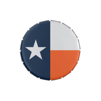 Navy Blue and Orange Texas Flag Jelly Belly Tin