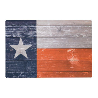 Navy Blue and Orange Texas Flag Placemat