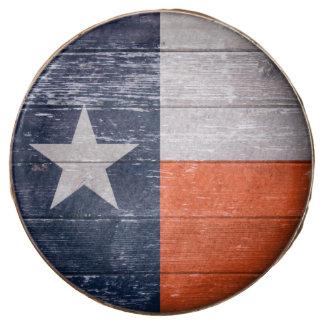 Navy Blue and Orange Texas Flag Chocolate Dipped Oreo