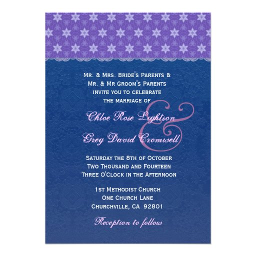 navy blue and purple wedding invitations - 28 images - modern navy ...