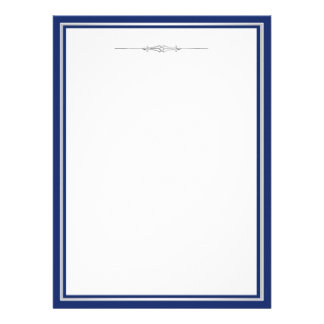 Navy Blue and Silver Damask Invitation Template