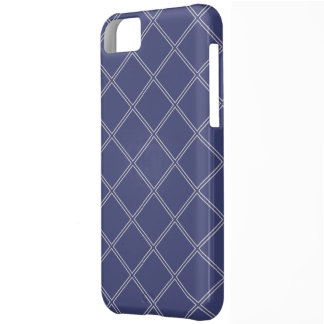 Navy Blue and Silver Geometric Diamond Outlines Cover For iPhone 5C