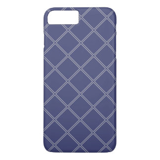 Navy Blue and Silver Geometric Diamond Outlines iPhone 7 Plus Case