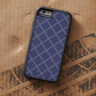 Navy Blue and Silver Geometric Diamond Outlines Tough Xtreme iPhone 6 Case