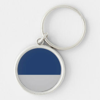 Navy Blue and Silver Keychain
