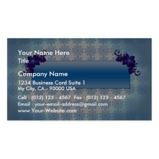 Navy blue and sky blue floral wedding gift business cards