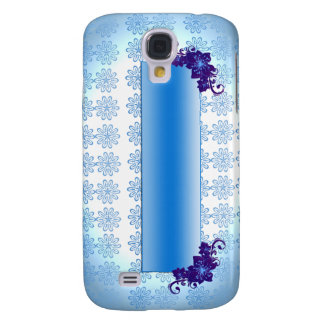 Navy blue and sky blue floral wedding gift samsung galaxy s4 case