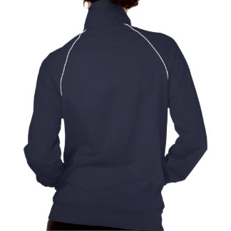 """Navy Blue and teal """"Meet Me at the Gym"""" Wordy Track Jackets"""