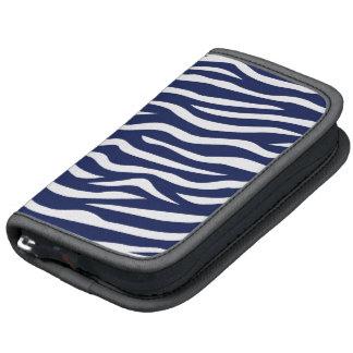 Navy Blue and White Animal Print Zebra Stripes Planners