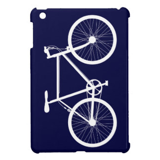 Navy Blue and White Bicycle iPad Mini Cover