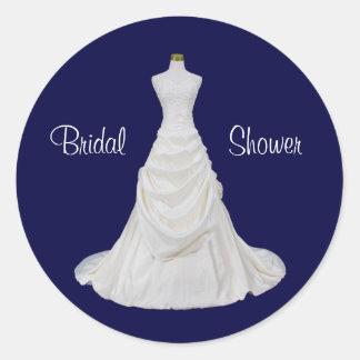Navy Blue and White Bridal Shower Envelope Seal