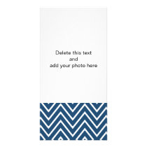 Navy Blue and White Chevron Pattern 2 Card