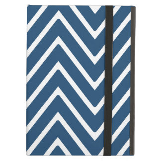 Navy Blue and White Chevron Pattern 2 Case For iPad Air