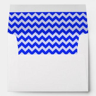 Navy Blue and White Chevron Print Envelope