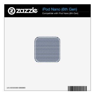 Navy Blue and White Chevron Stripes iPod Nano 6G Skin