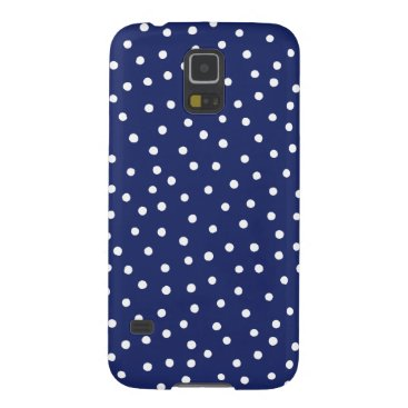 Beach Themed Navy Blue and White Confetti Dots Pattern Case For Galaxy S5