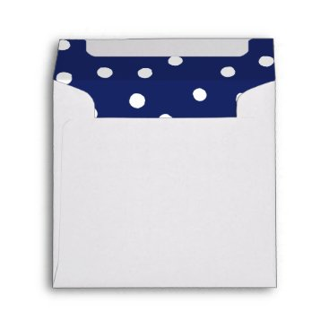 Beach Themed Navy Blue and White Confetti Dots Pattern Envelope
