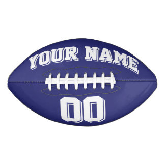NAVY BLUE AND WHITE Custom Football