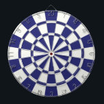 "Navy Blue And White Dartboard With Darts<br><div class=""desc"">Navy Blue And White Dart Board</div>"