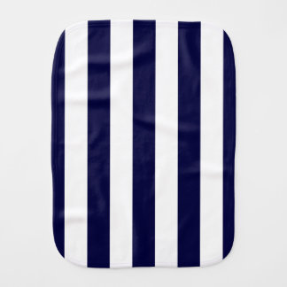 Navy Blue and White Extra Large Stripe Pattern Burp Cloth