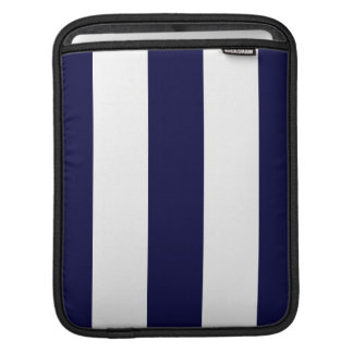 Navy Blue and White Extra Large Stripe Pattern Sleeve For iPads