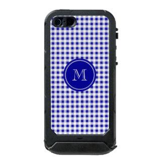 Navy Blue and White Gingham, Your Monogram Incipio ATLAS ID™ iPhone 5 Case