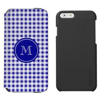 Navy Blue and White Gingham, Your Monogram Incipio Watson™ iPhone 6 Wallet Case
