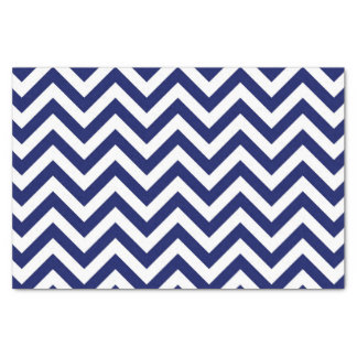 """Navy Blue and White Large Chevron ZigZag Pattern 10"""" X 15"""" Tissue Paper"""