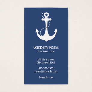 Marine business cards templates zazzle navy blue and white nautical business card colourmoves