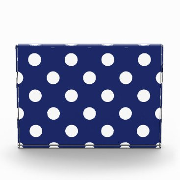 Beach Themed Navy Blue and White Polka Dot Pattern Award