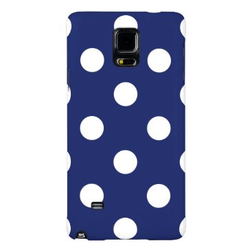 Beach Themed Navy Blue and White Polka Dot Pattern Galaxy Note 4 Case