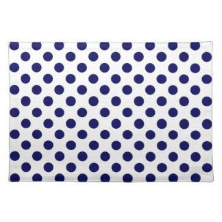 Navy Blue and White Polka Dot Placemats