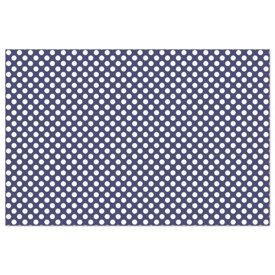 Navy Blue White And Gray Bedroom: Navy Blue And White Polka Dot Tissue Paper