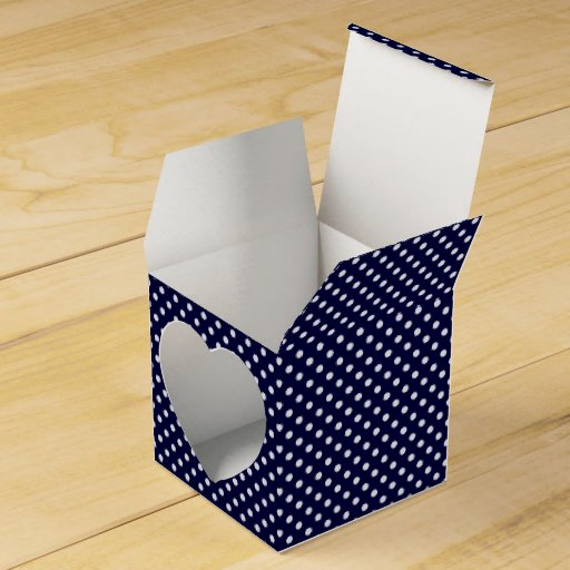 Blue Lightning Favor Boxes : Navy blue and white polka dots pattern favor box zazzle