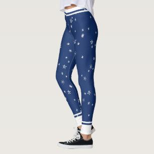 10b1b25935 Navy Blue and White Stars and Stripes Leggings