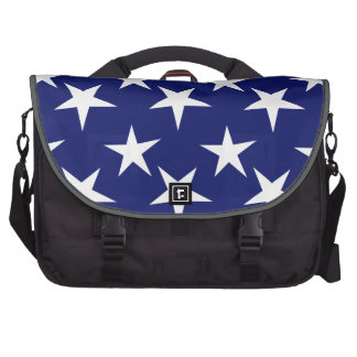 Navy Blue and White Stars Patriotic Computer Bag