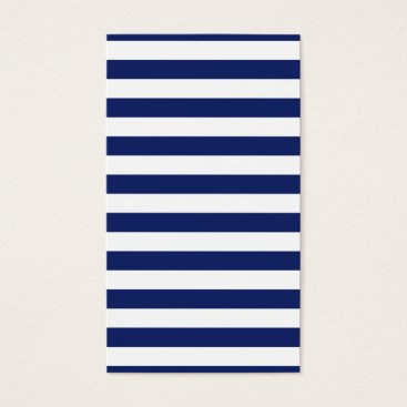 Beach Themed Navy Blue and White Stripe Pattern Business Card
