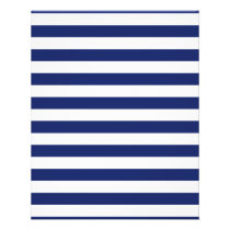 Navy Blue and White Stripe Pattern Flyer