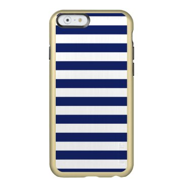 Beach Themed Navy Blue and White Stripe Pattern Incipio Feather® Shine iPhone 6 Case