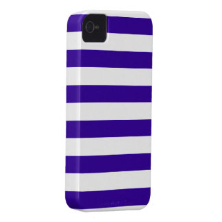Navy Blue and White Stripe Pattern iPhone 4 Case-Mate Cases