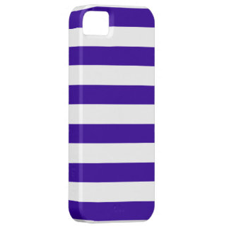 Navy Blue and White Stripe Pattern iPhone SE/5/5s Case