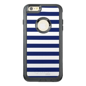 Beach Themed Navy Blue and White Stripe Pattern OtterBox iPhone 6/6s Plus Case