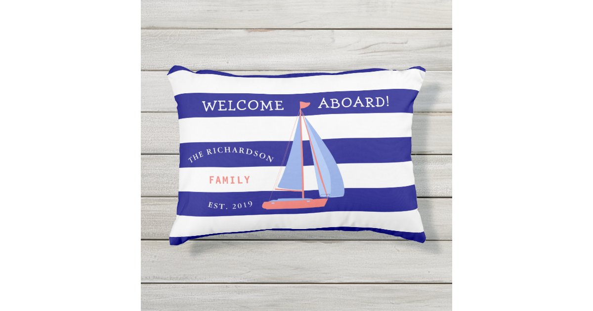 Navy Blue And White Striped Nautical