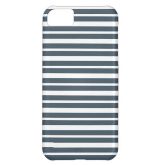 Navy Blue and White Stripes Cover For iPhone 5C