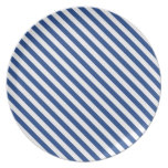 Navy Blue and White Stripes Party Plates