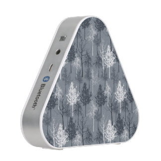 Navy Blue and White Trees Bluetooth Speaker