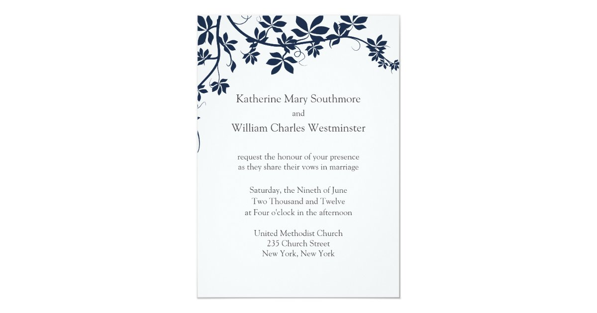 Navy Blue And White Wedding Invitations: Navy Blue And White Wedding Invitations
