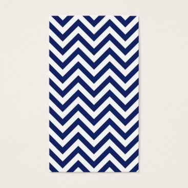 Beach Themed Navy Blue and White Zigzag Stripes Chevron Pattern Business Card