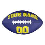 NAVY BLUE AND YELLOW Custom Football