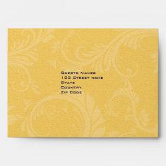 Navy blue and yellow wedding envelopes